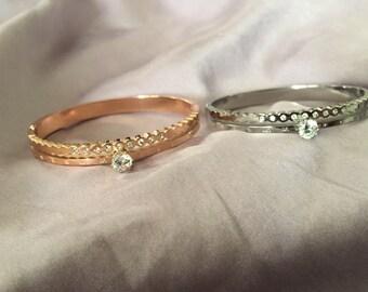 Solitary stone bracelet