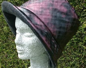 Black and Burgundy rain hat