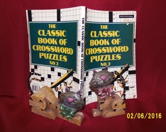 Vintage 1982 The Classic Book of Crossword Puzzles No. 2, Crossword Puzzle Book, Classic Crossword, Book of Crosswords