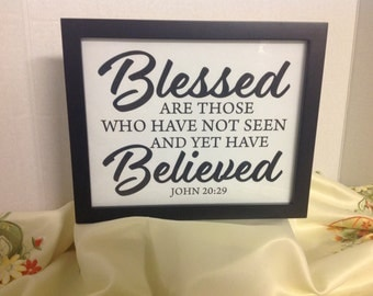 Blessed Decor Print , House , Home , Gift , Believe , God , laminated