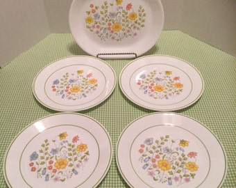 Corelle Spring Meadow Serving Platter and 4 Dinner Plates