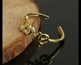 """60% OFF Gold """"Love"""" Toe Ring"""
