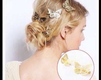 60% OFF Gold Butterfly Hair Clip