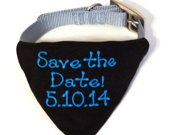 Wedding Dog Collar Bandana - Dog Save The Date - Dog Engagement Photo - Save The Date Bandana - Engagement Photo Prop - Dog Wedding Photo