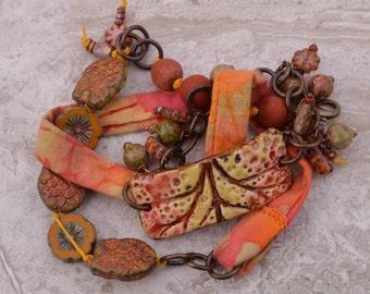 Batik wrap knotted bracelet Suzieqbeads - DayLilyStudio