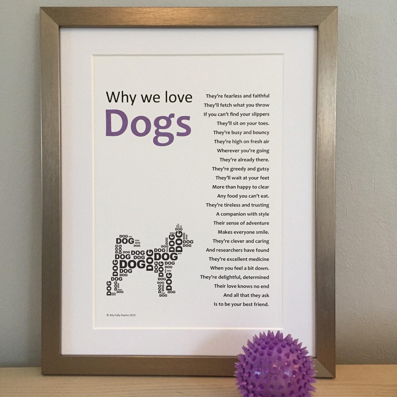 framed poem for a dog lover ideal animal lover u0027s gift
