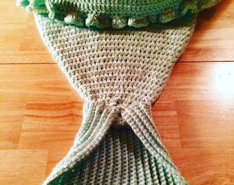 Crochet Mermaid Tail Blanket, Mermaid Tail Blanket, Kid Mermaid Tail Blanket, Adult Mermaid Tail Blanket, Crochet Mermaid Tail