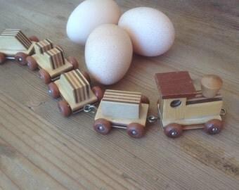 Miniature Wooden Train