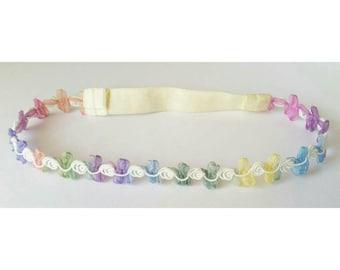 Fairy Headband, Multi-Colored Headband, Pastel Rainbow Headband