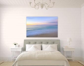 Turks and Caicos Pastels ~ Grace Bay, Canvas Gallery Wrap, Turquoise, Aqua, Vibrant, Abstract, Wall Art, Coastal Decor, Caribbean, Art
