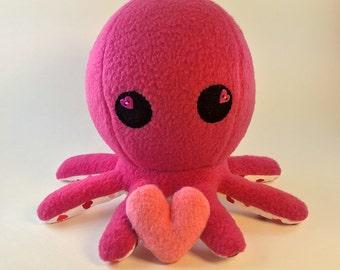 Valentine Edition Sweetheart Octopus - Dark Pink