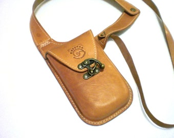 Leather Holster bag shoulder Handmade