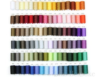 96 Colors of ESTER 80 All-Purpose Sewing Thread, 100% Polyester, 1094 Yards per Spool