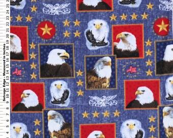 American Eagle Fleece Blanket (Red or Navy) - Handmade Sewed