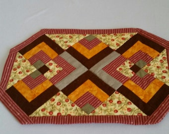 Quilted Cherry Placemat Set of 4 & Pot Holder