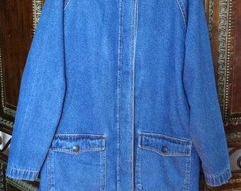 Vtg Blue jean jacket size medium free shipping
