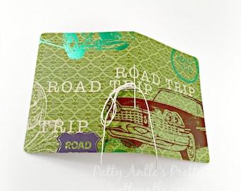 Travel Journal, Road Trip Journal, Car Journal, Vintage Car Journal
