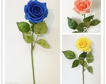 JennysFlowerShop 17'' Real Touch Rose Artificial Single Spray