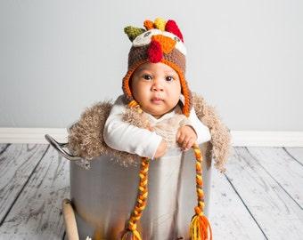 Newborn Turkey Hat, Newborn Thanksgiving Hat, Baby Turkey Hat, Newborn Turkey Hat,  Baby's First Thanksgiving, Thanksgiving Photo Prop
