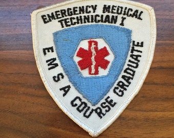 Vintage Emergency Medical Technician Course Graduate Embroidered Patch