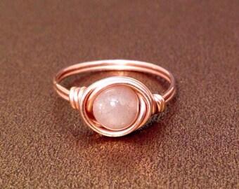 Sunstone Ring, 14k Gold Filled Ring, Oregon Sunstone Ring, Gemstone Ring, Wire Wrapped Ring, Oregon Sunstone Ring