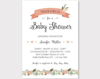 baby shower itinerary template