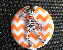 Halloween badge reel, unique id holder, nurse designer badge clip, fun skeleton  holiday nurse gift, teacher appreciation, medical name tag