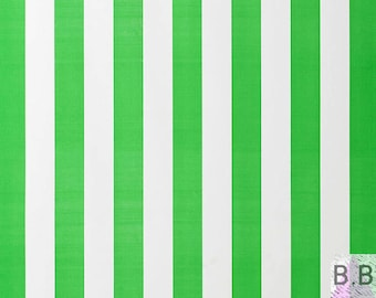 End Of Bolt- Large Fabric Remnant- Striped Fabric- Fabric Scraps- Scandinavian Fabric- Green Fabric- 150 x 50cm- Fabric Offcut- Half Metre