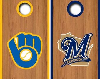 Milwaukee Brewers Cornhole Set