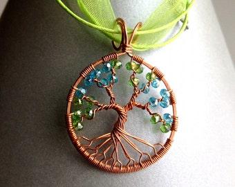 Spring Tree of Life on Silk Chord