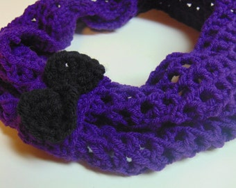 Child Bow Scarf - Toddler Scarf - Bow Infinity Scarf