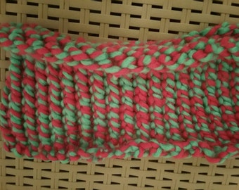 Dreadlock headband tube pink green