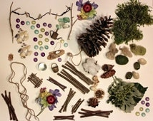 "Fairy Garden Kit by Olive, Includes 7"" Carolina Longleaf Pinecone ~ Arranged in Decorative Gift Box ~ Great Gift to Direct Ship!"