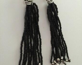 Skull tassel earrings