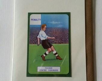Original 1950s 'It's a Goal' card Fulham