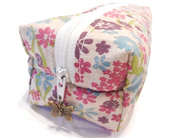 Floral Makeup bag, Floral Pencil Case, Floral Cosmetic Bag, Floral Make Up Bag