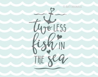 Ocean theme svg etsy for Two less fish in the sea