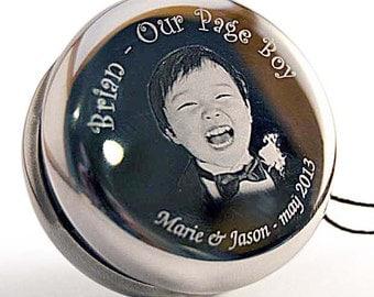 Personalised Photo/Text Engraved YoYo, Wedding Page Boy Executive Christmas Gift