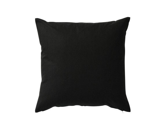 Plain Black Throw Pillow : Plain Cotton Pillow Cover Plain Pillow Black by OOMFinteriors