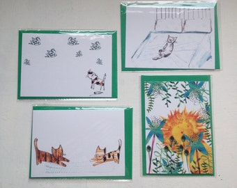 Cat Cards set.