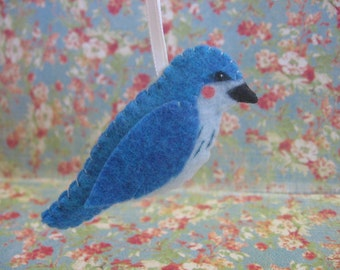 Mountain Bluebird Ornament