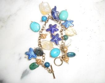 Vintage Charm Bracelet - Very Colorful