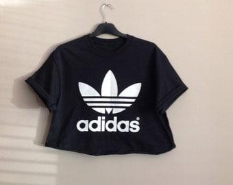 adidas crop top. old school black adidas crop top indie trashy ibiza hiphop retro o