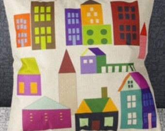 Scandinavian houses cushion cover, pillow cover