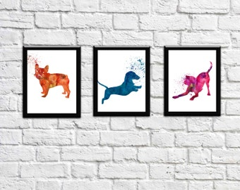 Dog wall Art Dog Breeds Pet shop Decor Pet shop Wall Art  Wet Decor Dog grooming Wall Art instant download 8x10 inch printable Files