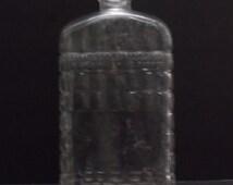 Vintage 1940's Clear Art Deco Bottle