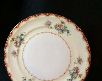 Occupied Japan, Meito China Floral Plate