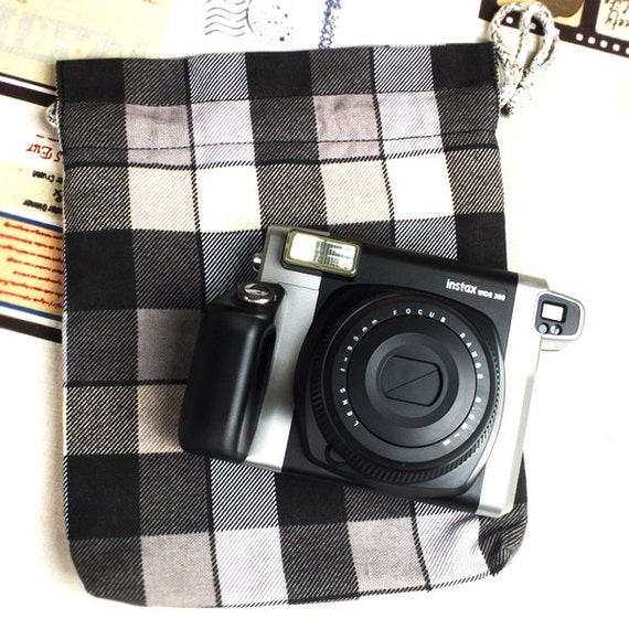 Camera Bag Protective Pouch Checked For Fujifilm Instax
