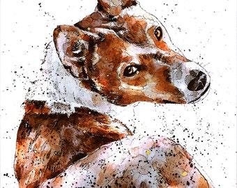 "Basenji 2  "" Original  Watercolour A2 (50*60 cm/20*16 Inches)"