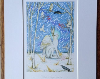 Mounted Giclee Print 'Solstice Angel'